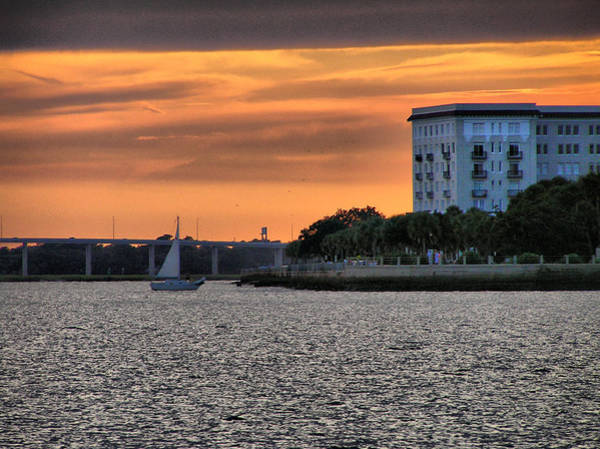 Battery Photograph - Charleston Battery Sunset by Dustin K Ryan