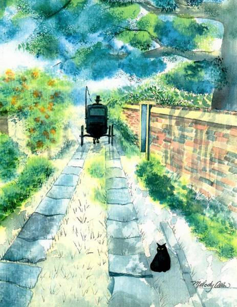 Wall Art - Painting - Charleston Carriage Path by Melody Allen
