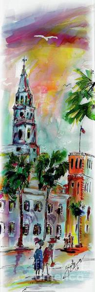 Painting - Charleston Churches Saint Michael by Ginette Callaway