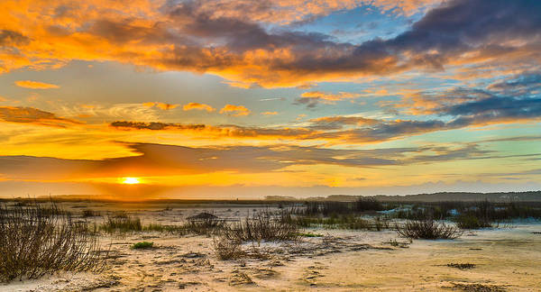 Photograph - Dunes Sunset On The Charleston Coast - Folly Beach Sc by Donnie Whitaker