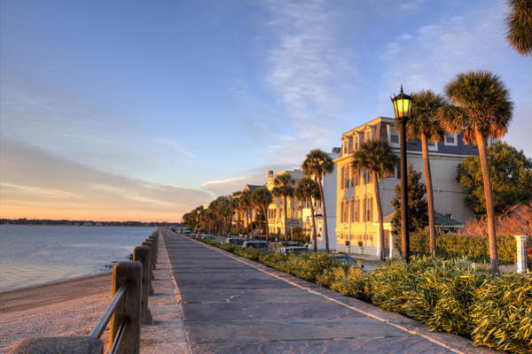 Charleston East Battery Row Sunrise Art Print