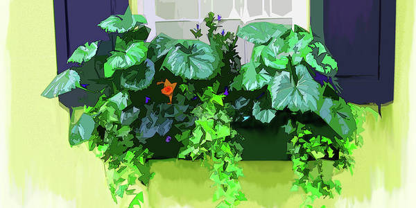Digital Art - Charleston Flowerbox by Gina Harrison