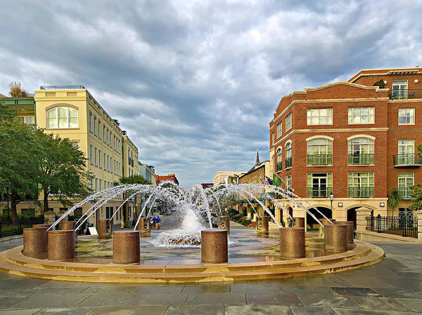 Photograph - Charleston Fountain by Mike Covington