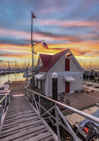 Photograph - Charleston Harbor Marina Boathouse by Donnie Whitaker