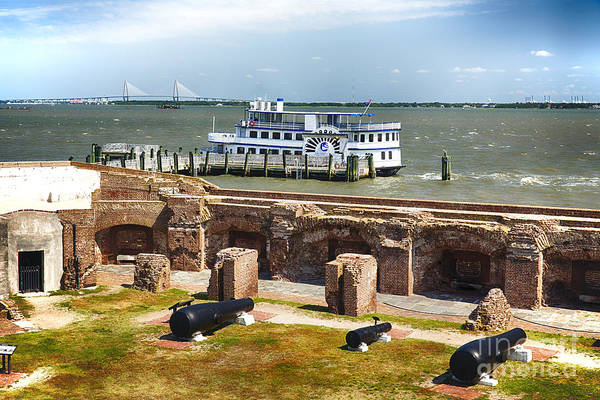 Low Battery Photograph - Charleston Harbor View From Fort Sumter by George Oze
