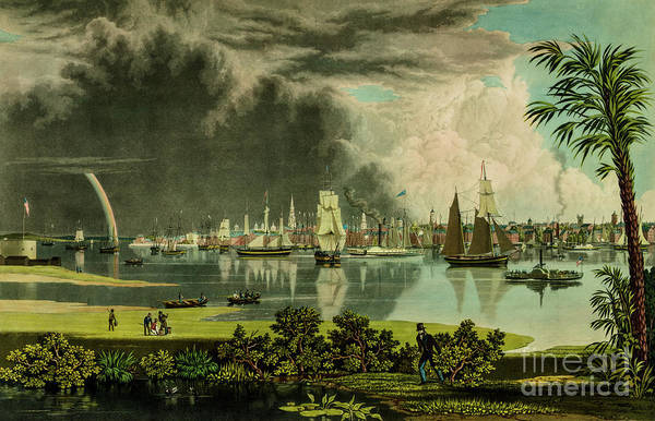 Photograph - Charleston In 1838 by Dale Powell