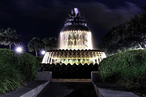 Photograph - Charleston Pineapple Fountain by Carol Montoya