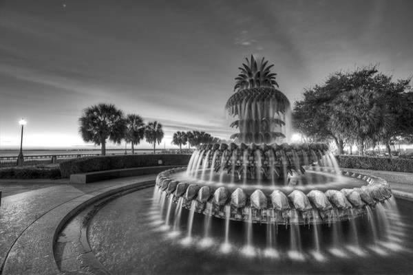 Pineapple Photograph - Charleston Pineapple Fountain Fine Art Image by Dustin K Ryan