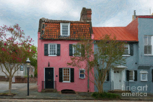 Painting - Charleston Pink House Charm by Dale Powell