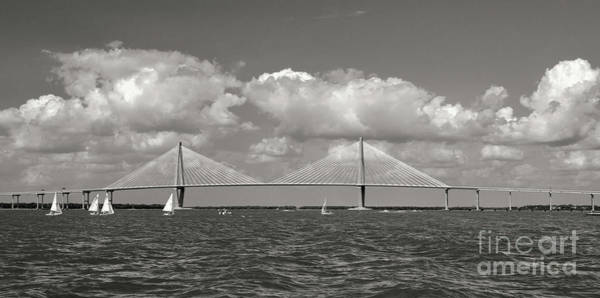 Photograph - Charleston Sailing In Sepia by Dale Powell