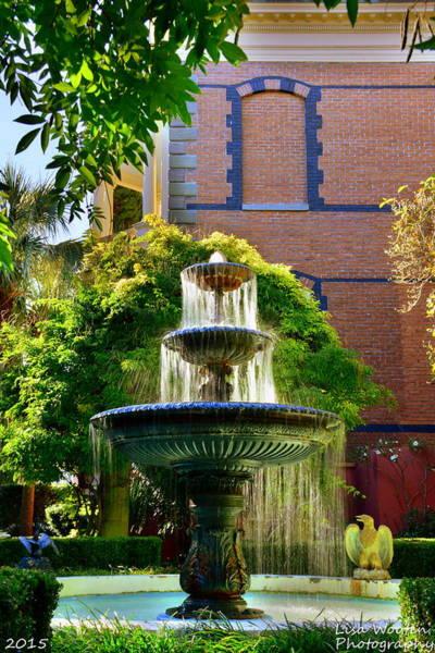 Photograph - Charleston Sc Calhoun Mansion Fountain by Lisa Wooten