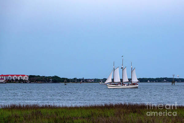 Photograph - Charleston Schooner At Dusk by Charles Hite