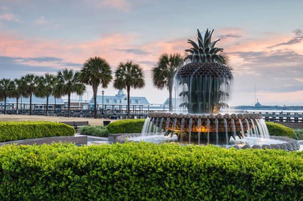 Lowcountry South Carolina Photograph - Charleston South Carolina Downtown Waterfront Park Pineapple Fountain by Mark VanDyke