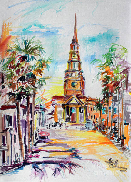 Painting - Charleston South Carolina Episcopal Church by Ginette Callaway