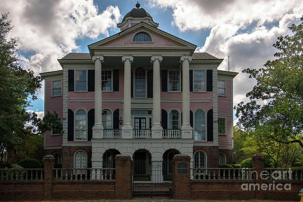 Photograph - Charleston South Carolina Faber House On East Bay Street  by Dale Powell