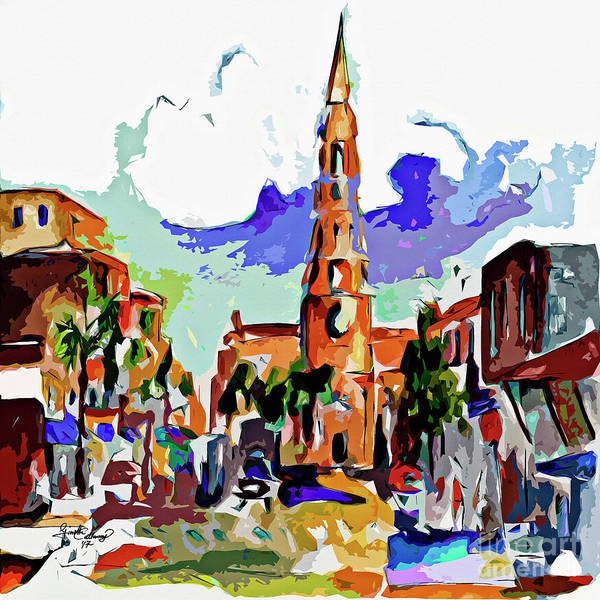 Mixed Media - Charleston South Carolina Saint Philips Church by Ginette Callaway