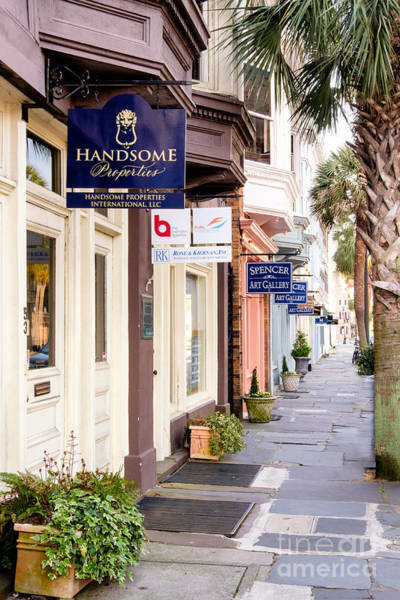 Low Battery Photograph - Charleston Store Fronts by Dawna Moore Photography