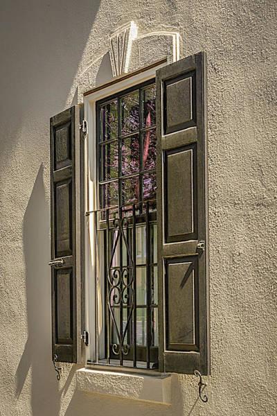 Photograph - Charleston Window Detail by Robert Mitchell