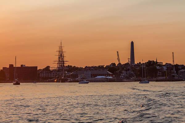 Photograph - Charlestown Navy Yard Sunset by Brian MacLean