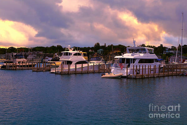 Photograph - Charlevoix City Boat Marina 2 by Rachel Cohen
