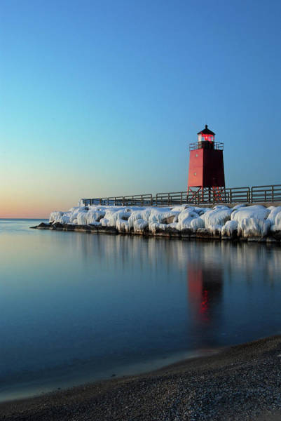 Photograph - Charlevoix Harbor Light by Russell Todd