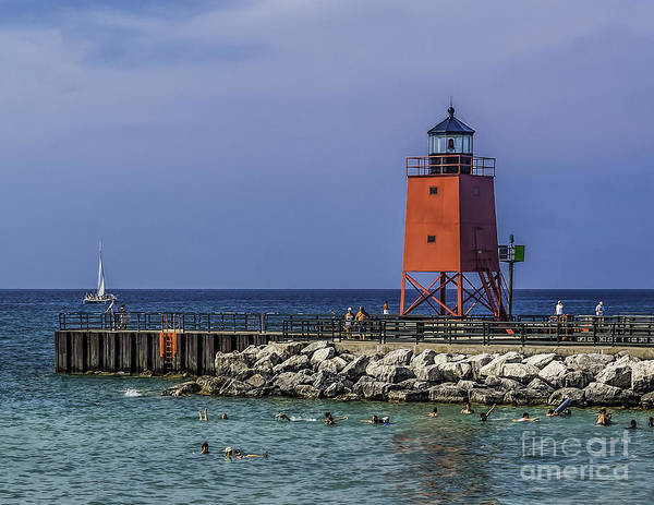 Wall Art - Photograph - Charlevoix South Pier  by Nick Zelinsky
