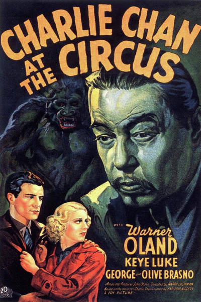 Mixed Media - Charlie Chan At The Circus 1936 by Movie Poster Prints