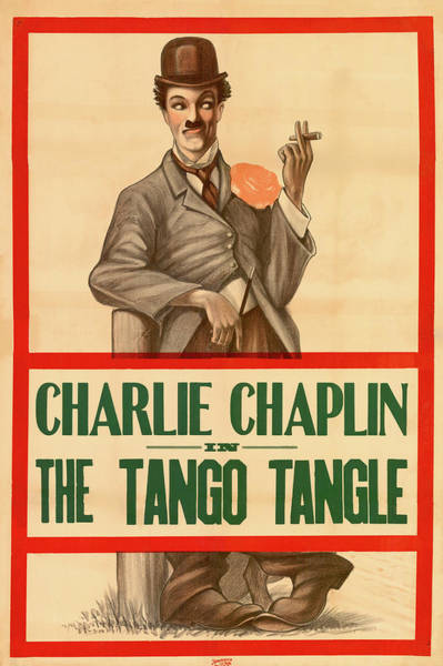 Tango Drawing - Charlie Chaplin In The Tango Tangle by Mountain Dreams