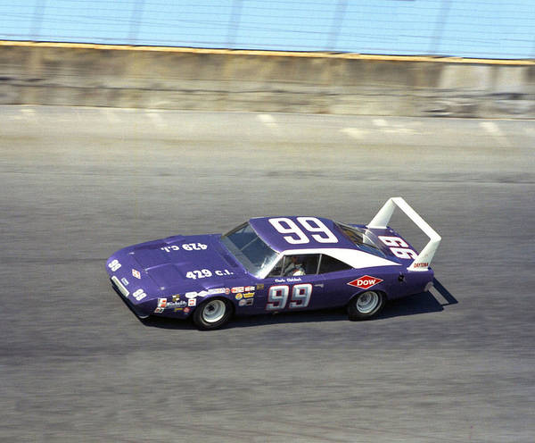 Wall Art - Photograph - Charlie Glotzbach # 99 Dodge Daytona 1970 At Daytona by David Bryant