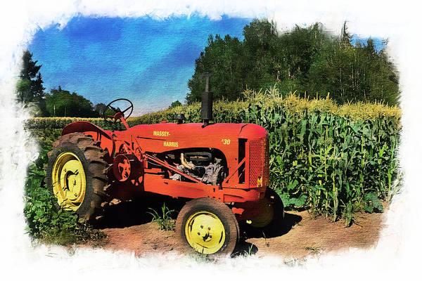 Digital Art - Charlie The Tractor by Richard Farrington