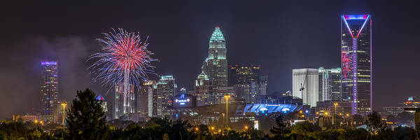 Charlotte Nc Wall Art - Photograph - Charlotte Celebration by Brian Young