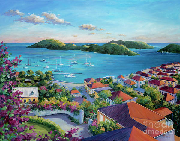 Wall Art - Painting - Charlotte Amalie Bay by John Clark