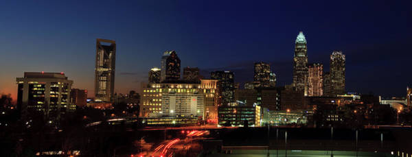 Photograph - Charlotte At Night Panorama by Jill Lang