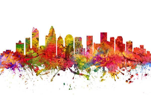 Charlotte Digital Art - Charlotte Cityscape 08 by Aged Pixel