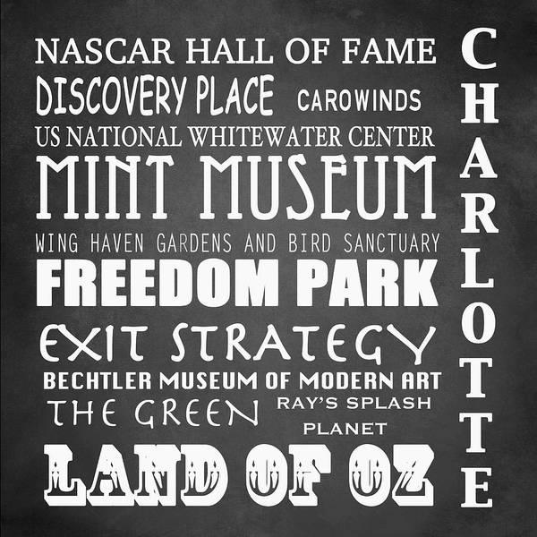 Charlotte Digital Art - Charlotte Famous Landmarks by Patricia Lintner