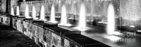 Wall Art - Photograph - Charlotte Fountain Black And White Panorama Photo by Paul Velgos