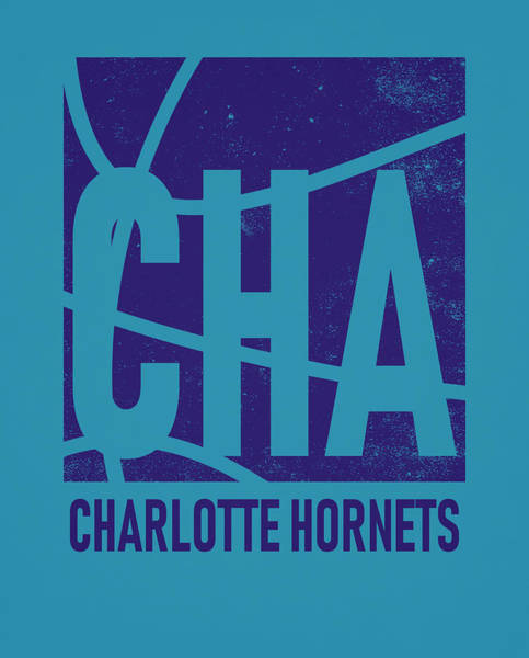 Wall Art - Mixed Media - Charlotte Hornets City Poster Art by Joe Hamilton
