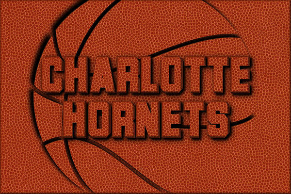 Wall Art - Photograph - Charlotte Hornets Leather Art by Joe Hamilton
