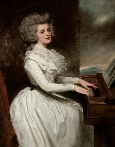 Romney Painting - Charlotte, Mrs Thomas Raikes by George Romney