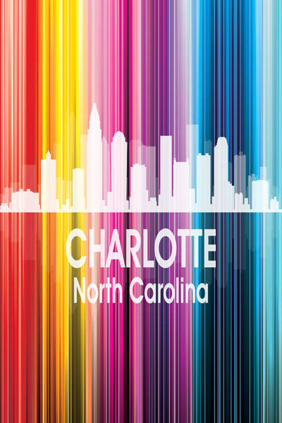 Wall Art - Digital Art - Charlotte Nc 2 Vertical by Angelina Tamez