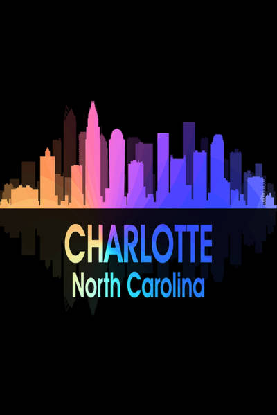 Wall Art - Digital Art - Charlotte Nc 5 Vertical by Angelina Tamez