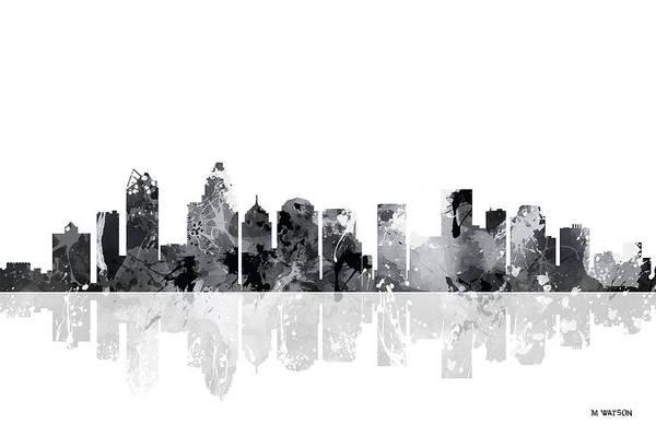 Charlotte Digital Art - Charlotte N C Skyline by Marlene Watson