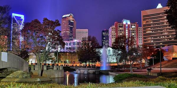 Charlotte Nc Wall Art - Photograph - Charlotte Park Pano by Frozen in Time Fine Art Photography