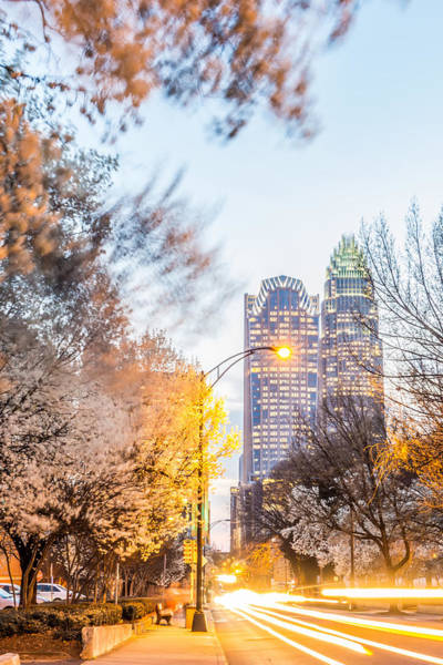 Photograph - Charlotte Skyline At Dawn Hours On A Spring Evening by Alex Grichenko
