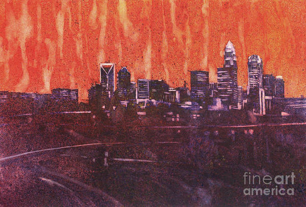 Wall Paper Painting - Charlotte Sunset IIi by Ryan Fox
