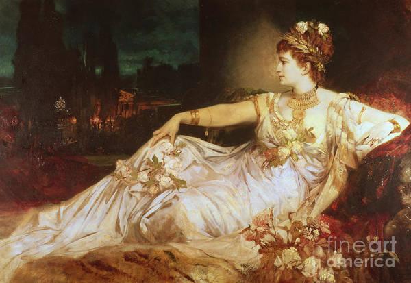 Charlotte Wolter As The Empress Messalina Art Print