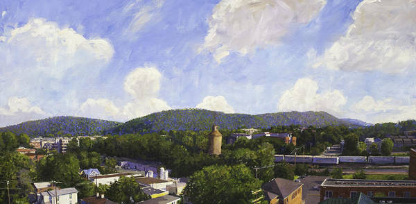 Ashes Painting - Charlottesville Looking East by Edward Thomas