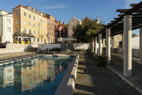 Photograph - Charming Lisbon - Miradouro De Santa Luzia Morning Reflections by Georgia Mizuleva
