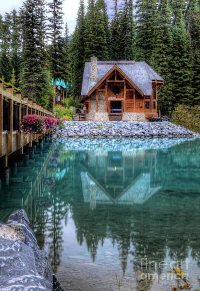 Photograph - Charming Lodge Emerald Lake Yoho National Park British Columbia Canada by Wayne Moran