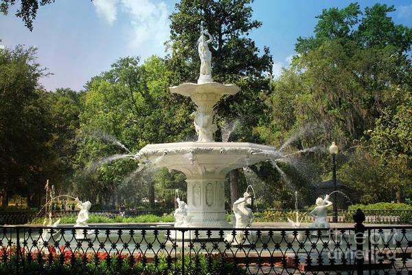 Photograph - Charming Savannah Fountain by Carol Groenen